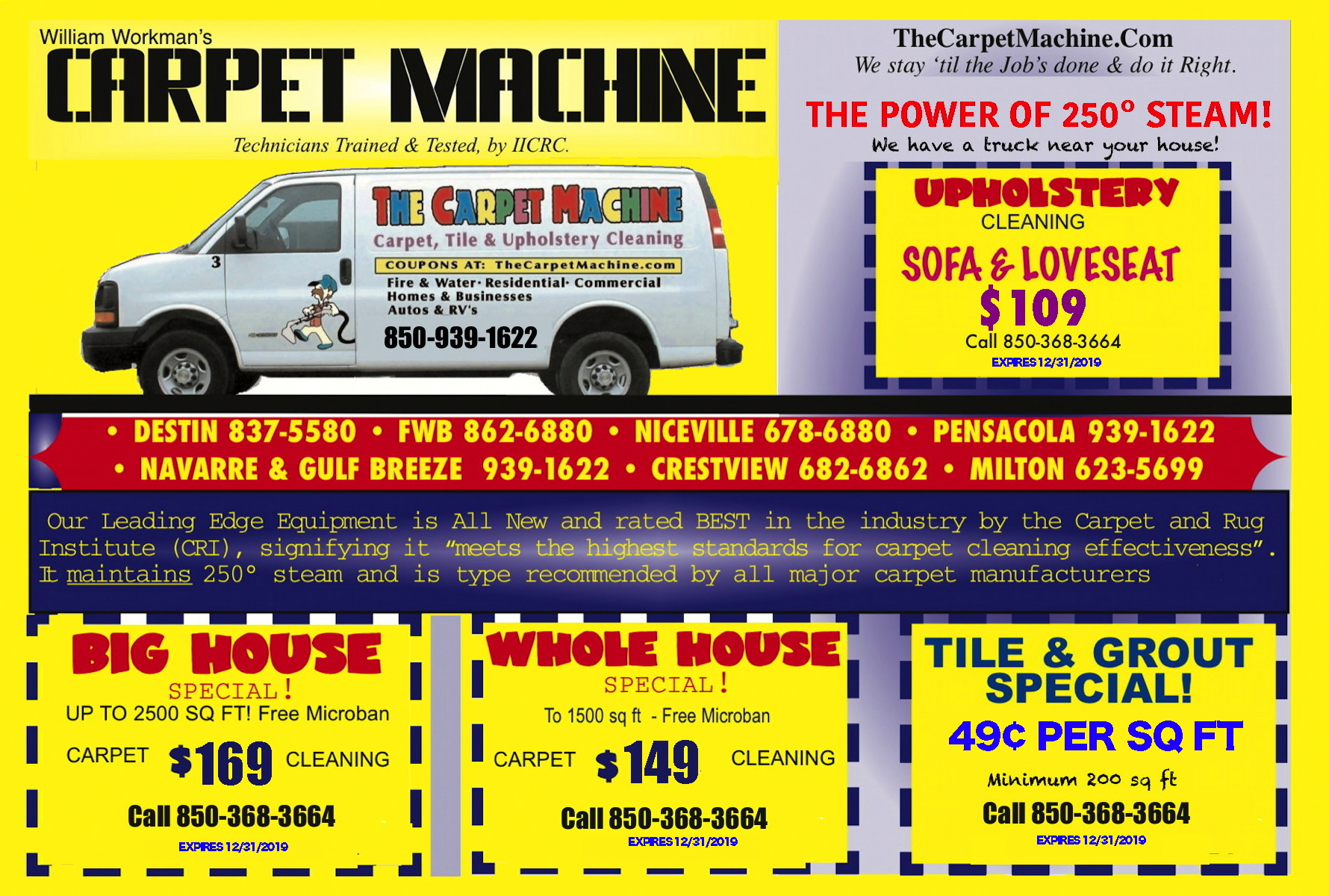 Carpet, Tile & Upholstery Cleaning Coupons